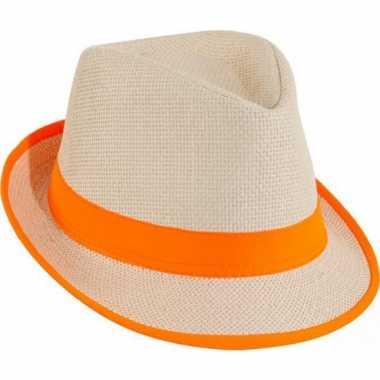 Oranje strand hoedjes