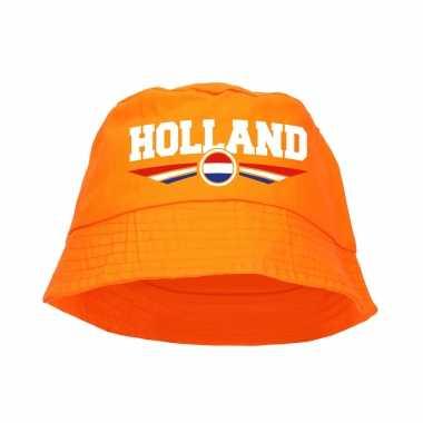Oranje supporter / koningsdag vissershoedje holland voor ek/ wk fans