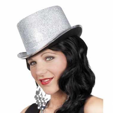 Party hoed hoog met zilveren glinsters