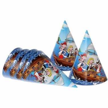 Piratenfeestje blauwe hoedjes 16 cm