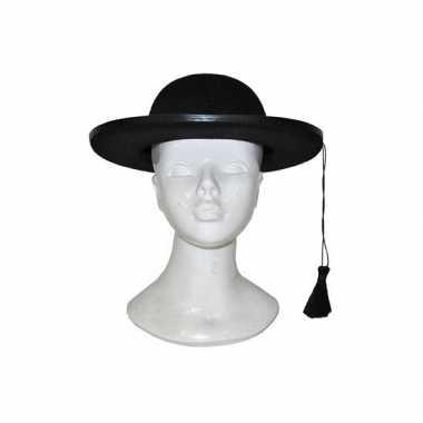 Priester hoed zwart voor volwassenen