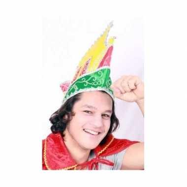 Prins carnaval hoeden rood geel groen
