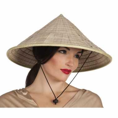 Puntige hoed van stro aziatisch
