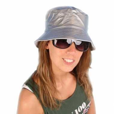 Pvs zilver visserhoedje voor volwassenen hoed