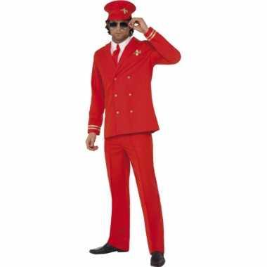 Rood piloot pak met hoed