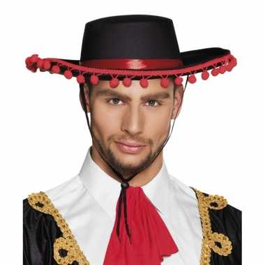 Spaanse matador hoed met bolletjes