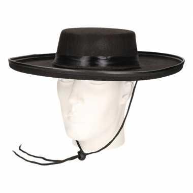 Spaanse zwarte hoed voor volwassenen