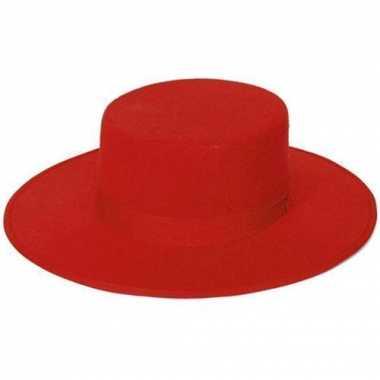 Stierenvechters hoed rood