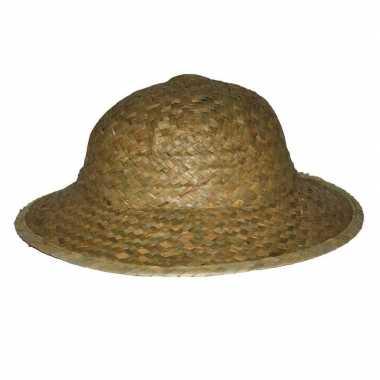 Strooien safari hoeden