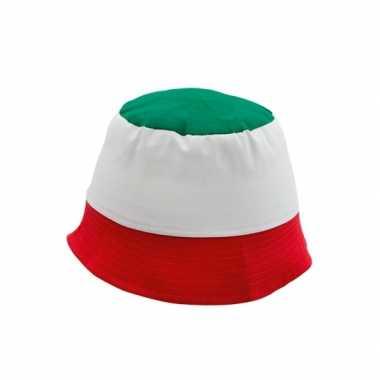 Supporters hoedje italie 100% katoen - zonnehoedjes