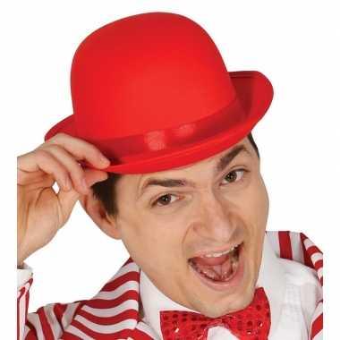 Toppers - rode bolhoed/verkleed hoed voor volwassenen