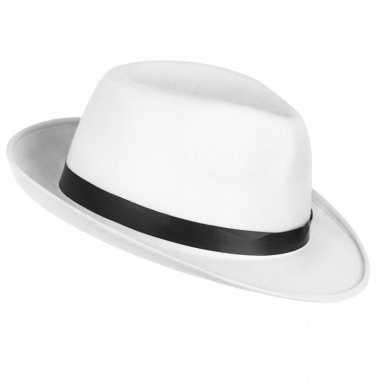 Toppers - witte maffia gangster hoed voor volwassenen