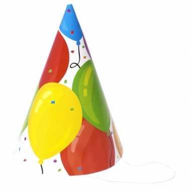 Voordelige hoedjes ballon 18 stuks