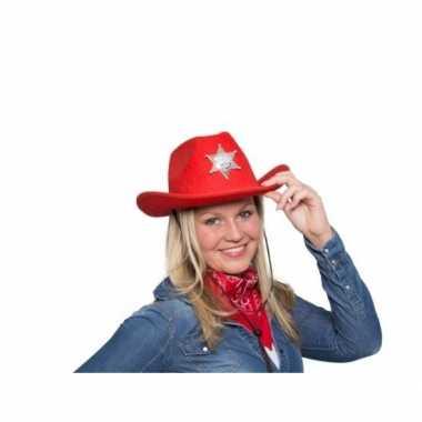 Western cowboyhoed rood met led