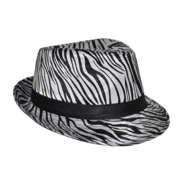 Zebra print hoeden