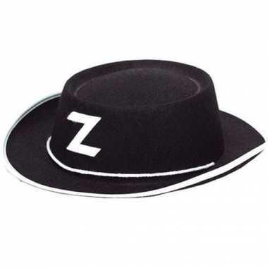 Zorro hoedje zwart voor kinderen