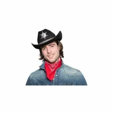 Zwart wild west cowboy hoed voor volwassenen