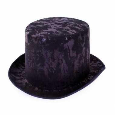 Zwarte antieke hoge hoed voor volwassenen
