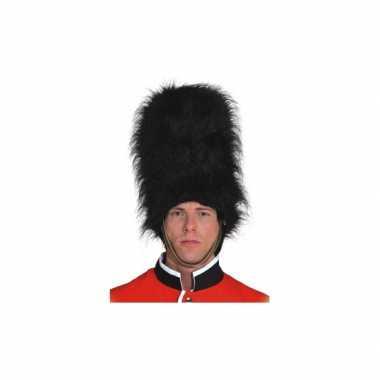 Zwarte engelse soldaat hoed