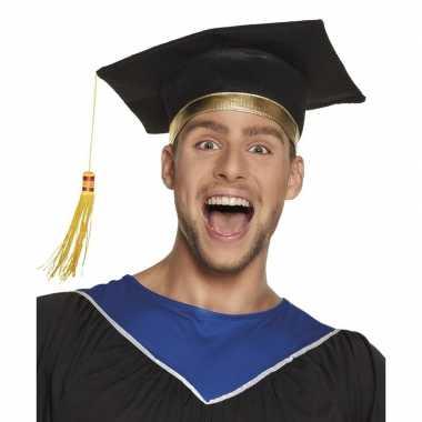 Zwarte examen hoed voor volwassenen