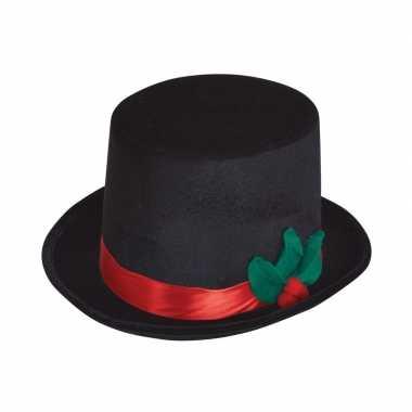 Zwarte sneeuwpop hoed voor volwassenen