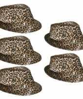 5x luipaard print hoeden