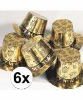 6x gouden hoed happy new year