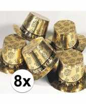 8x gouden hoed happy new year