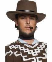 Bruine heren cowboyhoeden hoed