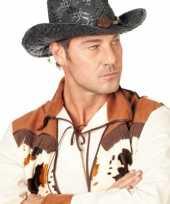 Carnaval hoed cowboy zwart voor heren