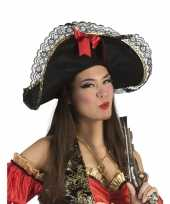 Dames piratenhoed met strik hoed