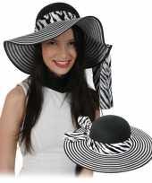 Dames zonnehoeden met zebra motief hoed