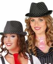 Gangster hoed zwart wit voor dames heren