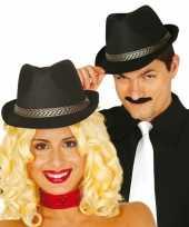 Gangsterhoeden zwart hoed