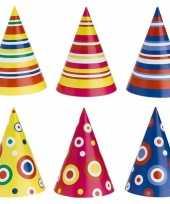 Gekleurde feesthoedjes 50 stuks hoed