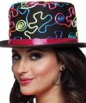 Gekleurde hoge feesthoed hoed