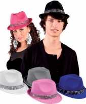 Grijze hoedjes met diamantjes