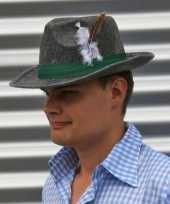 Grijze jagershoeden voor volwassenen hoed