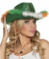 Groene ierse cowboyhoed voor dames hoed