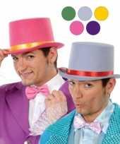 Hoge paarse clowns hoed van vilt