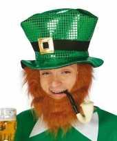 Ierse groene hoed met pailletten
