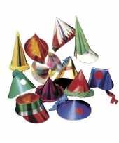 Papieren feesthoedjes 6 stuks voor kids hoed
