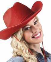 Rode cowboyhoeden hoed