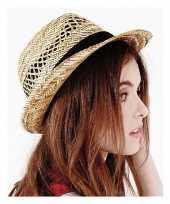 Stro zomerhoed trilby hoed