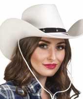 Witte cowboyhoed wichita voor dames hoed
